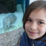 Chloe with cuttlefish