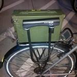 bike trunk side with bike lock