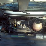 Engine compartment on VW