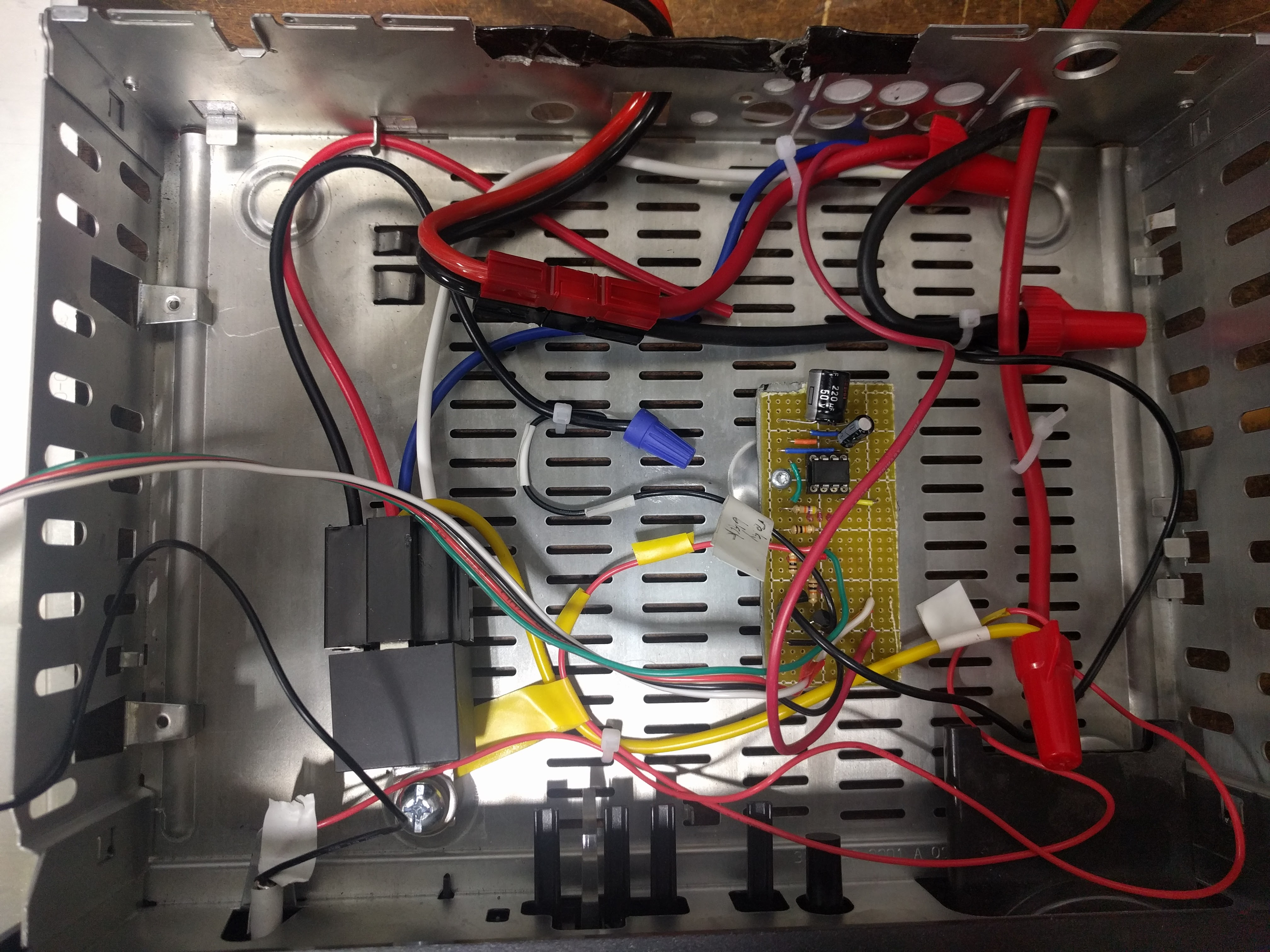 Finished product with cable ties to enforce a layout among the wires
